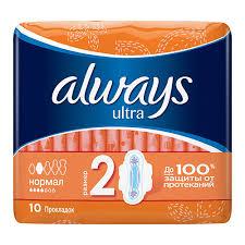 Купить <b>ПРОКЛАДКИ</b> `<b>ALWAYS</b>` ultra <b>normal</b> plus 10шт. по ...
