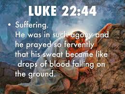 Image result for Luke 22:44 pics