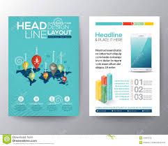 isometric shape design brochure flyer layout vector template stock social network concept brochure flyer design layout template royalty stock images