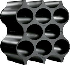 <b>Подставка для бутылок SET-UP</b> Koziol, чёрная