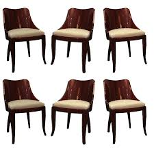 beautiful set of 6 art deco dining chairs attrib to dominique at 1stdibs art deco dining 13