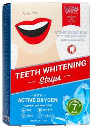 <b>Global</b> White <b>Отбеливающие полоски</b> для зубов с активным ...
