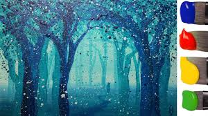 Рисуем волшебный ЛЕС акрилом / How to paint a <b>magic</b> forest ...