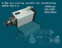 China Fan Cooled <b>4.5kw Spindle</b> for <b>CNC Router</b> Machine (GDF60 ...