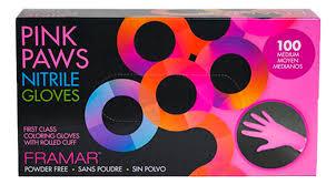 <b>Framar Перчатки розовые нитриловые</b> Pink Paws Nitrile Gloves ...