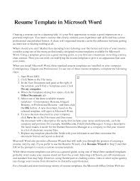 resume microsoft word format cipanewsletter cover letter resume template microsoft word resume template