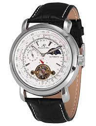 KS Men's Wrist Watch Luxury Moon Phase Automatic ... - Amazon.com