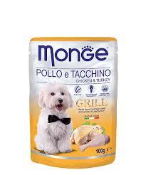 Собаки : <b>Паучи Monge Dog Grill</b> Pouch для собак (курица с ...