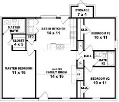 Two Bedroom Two Bath House Plans   Simple Two Bedroom Two Bath    Bedroom Bath House Plan Design House Plans Floor Plans for Two Bedroom Two Bath House