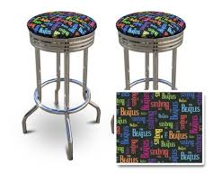 <b>2</b> The Beatles Band Music Themed 29'' Specialty Chrome <b>Barstools</b> ...