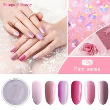 <b>10g</b>/<b>box Very Fine</b> 6 In 1 Pretty Princess Pink Series Nail Dipping ...