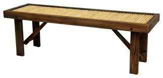 japanese bamboo bench with wood frame accent and storage benches bamboo wood furniture