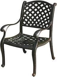 Darlee Nassau Cast Aluminum Dining Chairs with ... - Amazon.com