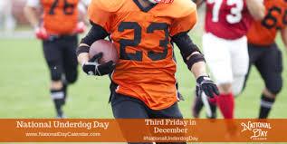 NATIONAL UNDERDOG DAY - Third Friday in December - National ...