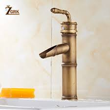 2019 <b>ZGRK</b> Basin <b>Faucets Bathroom</b> Bamboo <b>Hot</b> Cold Mixer <b>Taps</b> ...