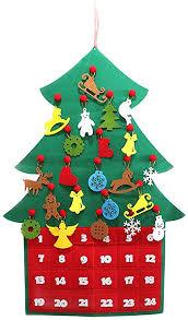Christmas Tree Shape Countdown Advent Calendar ... - Amazon.com