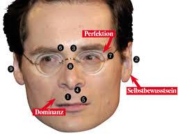1) Was bei Roger Köppel auffällt, ist der grosse Abstand zwischen Nasenspitze und Oberlippe, der auf einen starken Dominanzanspruch hinweist. - Koeppel-2