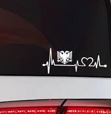 Albanien Herzschlag <b>Auto</b> Aufkleber Albania Flag <b>Sticker</b> Albanien ...