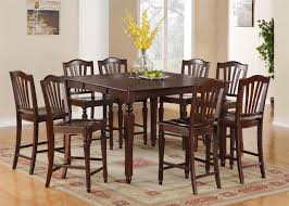 Dining Room Set Counter Height Square Table Dining Room Set In Classic Wooden Design Table Amp