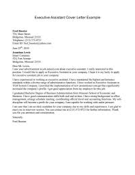 resume cover letter sample administrative assistant executive gallery of administrative assistant email cover letter