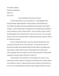 american dream essay great gatsby