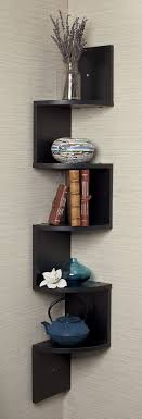 wall shelves uk x: this zig zag corner wall shelf is a stylish and unique way to hold your belongings