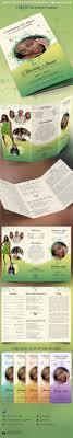 decorative tri fold funeral program by godserv graphicriver decorative tri fold funeral program informational brochures