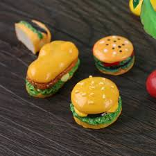 1:12 scale <b>4 Pcs/Set Resin</b> Hamburger DIY Craft Decoration ...