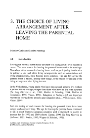 the choice of living arrangement after leaving the parental home diversity in family formation diversity in family formation