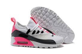 Women's Nike Air Max 90 EZ Grey/<b>Black</b>/<b>Pink</b> Fashion Running ...