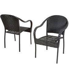 outdoor patio furniture black pe wicker dining chair set of black patio chairs black outdoor furniture