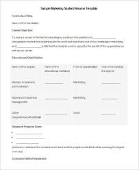 microsoft resume templates – free samples  examples  amp  format    microsoft marketing student resume template example
