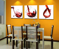 <b>3 Piece Modern</b> Kitchen Canvas Paintings Red Wine Cup Bottle ...