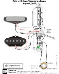 tele wiring diagram tapped pickups push pull telecaster tele wiring diagram 2 tapped pickups 1 push pull