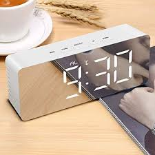 Buy REMUS Digital <b>LED Alarm Clock</b>, Mirror Alarm Clock for Heavy ...