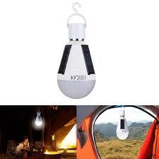 7W Solar Powered <b>E27 LED</b> Rechargeable Light Bulb Tent ...