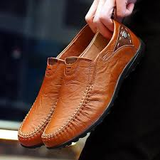 Handmade Casual <b>Shoes Men</b> Moccasins Comforable <b>Leather Flat</b> ...