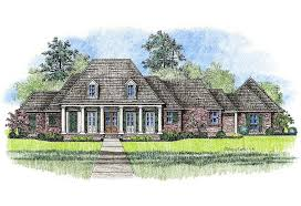 Michelle   Country French Home Plans Louisiana House Plans    Plans Louisiana House Plans  Large Acadian Style Country French Home Plan Elevation