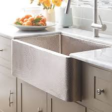 hammered copper kitchen sink:  farmhouse  kitchen sink in brushed nickel cpk