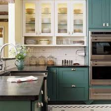 blue kitchen cabinets small painting color ideas: kitchen cabinet color ideas with white appliances