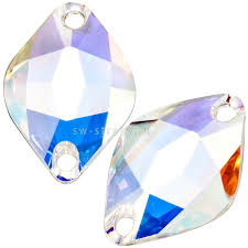 <b>3211</b> 14x9 mm <b>Crystal</b> AB - пришивные кристаллы (<b>стразы</b> ...