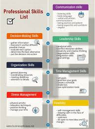 professional skills list ly professional skills list infographic