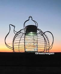 teapot mason jar solar light vintage blue ball jar solar light created by treasureagain ball mason jar solar lights