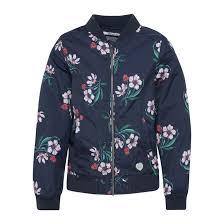 <b>Куртка</b>-<b>бомбер</b> с цветочным рисунком, 8-16 лет синий морской ...