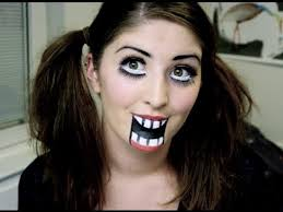 creepy wooden doll makeup tutorial