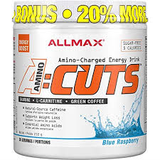 ALLMAX Nutrition <b>ACUTS</b>, <b>Amino-Charged Energy Drink</b>, Blue ...