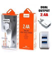 AC-200 LDNIO <b>2.4A</b> Dual-USB Charger with <b>high quality</b>