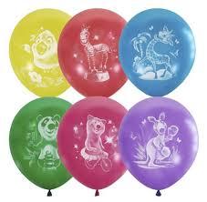 <b>Набор воздушных шаров Поиск</b> Веселый зоопарк (50 шт ...