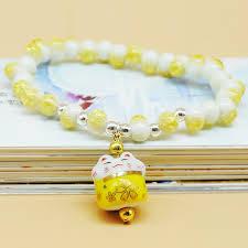 <b>Lucky cat</b> crystal natural stone <b>bracelet</b> multilayer beaded <b>bracelets</b> ...