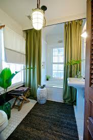 better decorating bible blog bathroom tiki spa style green curtains garden bench banana leaves in vase blog spa bathroom